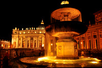 Vatican City at Night, Rome Italy #1809